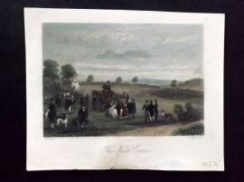 Sporting Magazine 1857 Hand Col Print. The Neat Course. Coursing